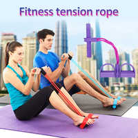 Multi-Function Puller Pedals Elastic Rope Legs Expander Yoga Pilates Fitness Belt Slimming Tool Training Workout for Indoor
