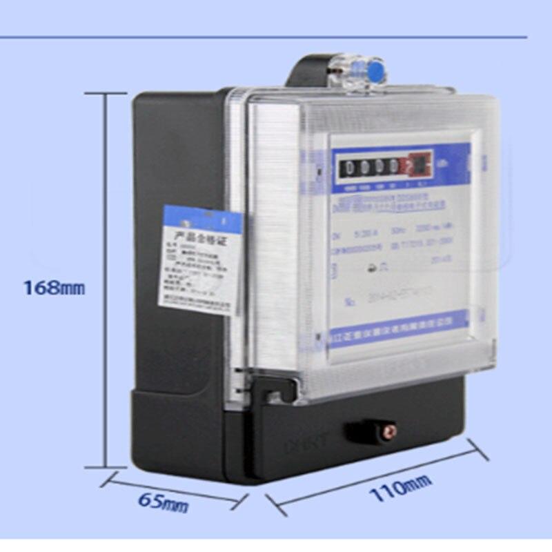 Однофазный счетчик DDS666) Полная серия однофазный электронный счетчик энергии точный электронный дисплей счетчик энергии