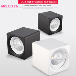 Square Surface Mounted Dimmable COB LED Downlights 7W 9W 12W 15W 20W LED Ceiling Lamp Spot Lights AC85 ~ 265V indoor lighting