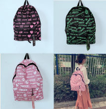 KPOP BLACKPINK JISOO LISA JENNIE ROSE Got7 TWICE SANA TZUYU Shoulder Bag Backpack Male Female Students Backpacks Wholesale New(China)