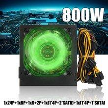 220V 800W Max PC alimentation 12cm LED ventilateur silencieux avec contrôle de température Intelligent Intel AMD ATX 12V pour ordinateur de bureau