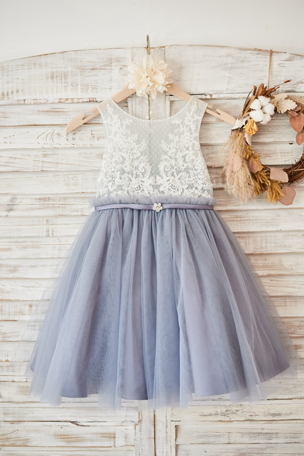 Ball Gown New   Flower     Girl     Dress   2019 Lovely Lace Tulle   Girl     Dress   for Wedding Party