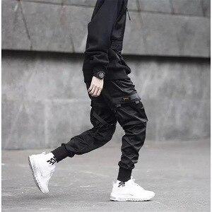 Image 5 - Joggers Mannen Zwart Tactische Techwear Broek