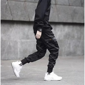 Image 5 - Pantalones tácticos para hombre, ropa para correr, color negro