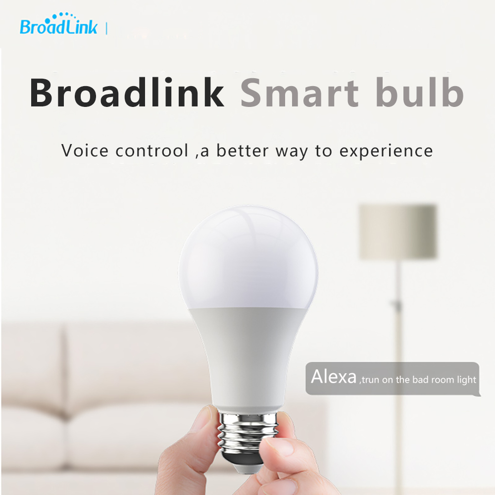 Broadlink Smart WiFi LED Bulb E27Light Switch Wireless Remote Control RM Pro Work With Alexa Google Home For Android IOS
