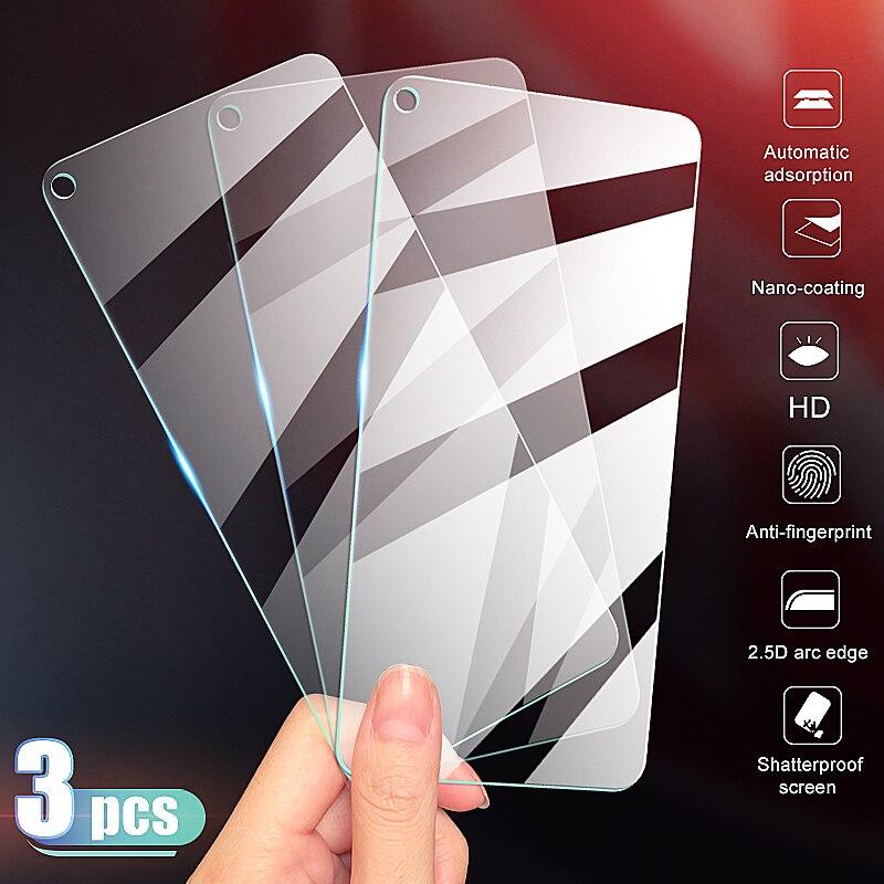3Pcs Full Cover Tempered Glass For Huawei Honor 20 10 9 8 Lite Screen Protector Glass Honor 9X 8X V10 V20 V30 9H HD Full Glue