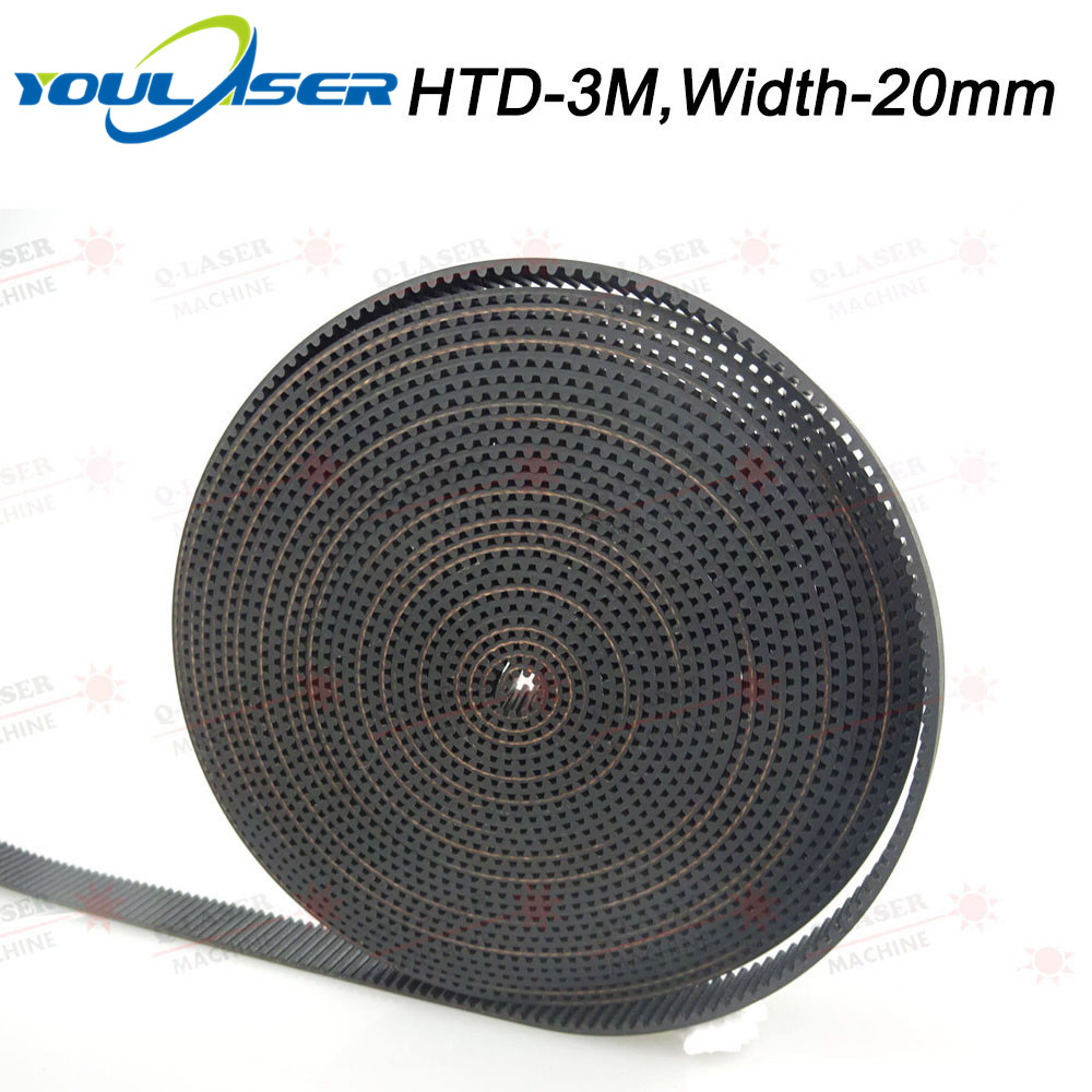 10Meters HTD-3M-20mm PU Open Belt 3M Timing Belt Polyurethane For CO2 Laser Engraving Cutting Machine