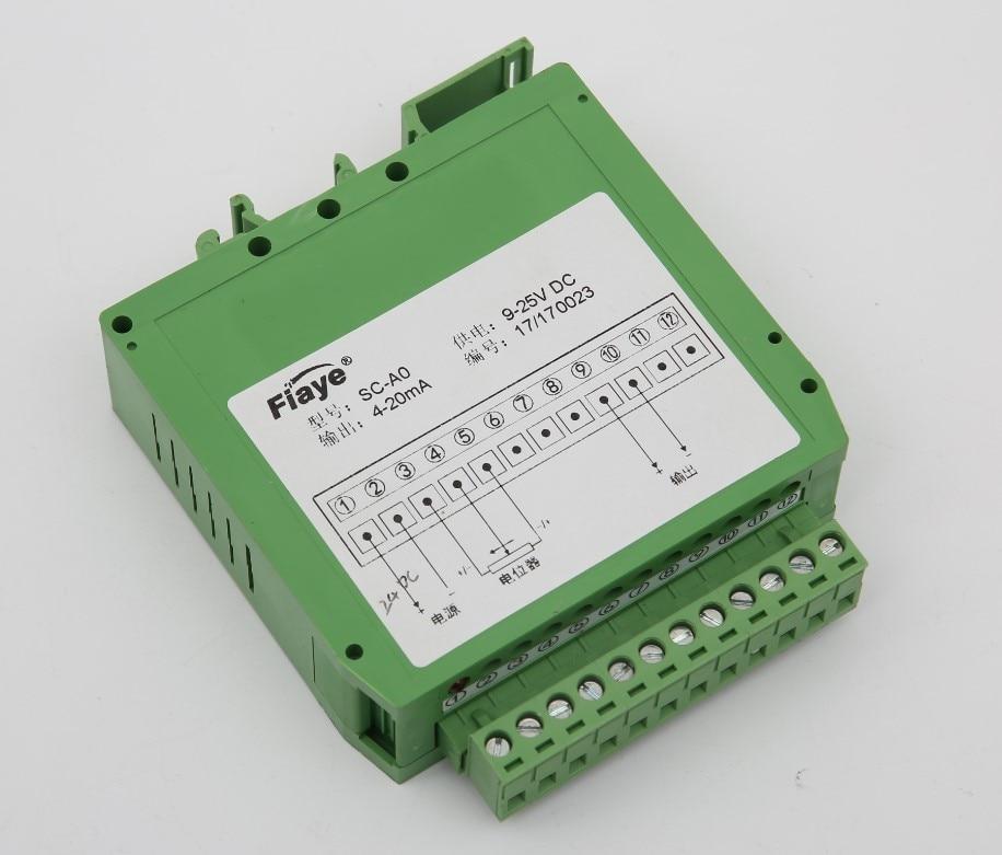 Potentiometer Signal Conditioner Resistive Displacement Sensor Converter Electronic Ruler External Transmitter Module SC
