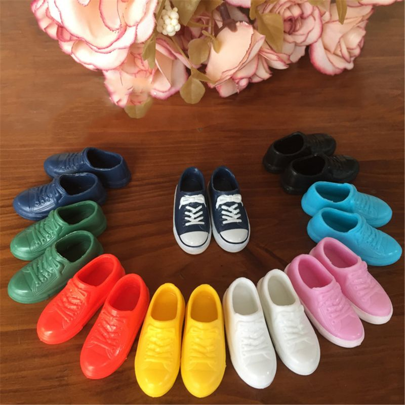 1/6 Fashion 1:6 Sneakers For Blyth Doll Curvy Colorful Doll Shoes For Lica Doll