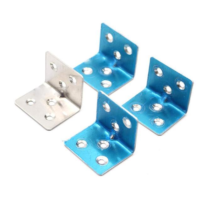20 sztuk 38x30x1.5mm ze stali nierdzewnej kąt kod siedem słów podpora stała akcesoria meblowe szafka złącze kątowe