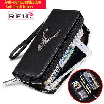 WILLIAMPOLO Multi-card anti-theft credit card bag men wallet large capacity men's long wallet card set credit card holder фото