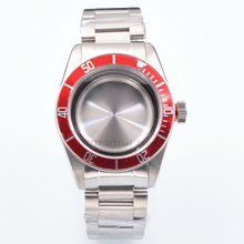 Watch Parts 41mm red Bezel Watches Case 22mm band Brass Coated 316L S Steel belt  Fit ETA 2836/2824 Miyota8215 821A movement цена и фото