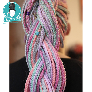 """Image 2 - Luxury For Braiding 10packs 24"""" 94colors Navy Neon Olive Lavender Lilac Vintage Grey  Synthetic Fiber Jumbo Braids"""