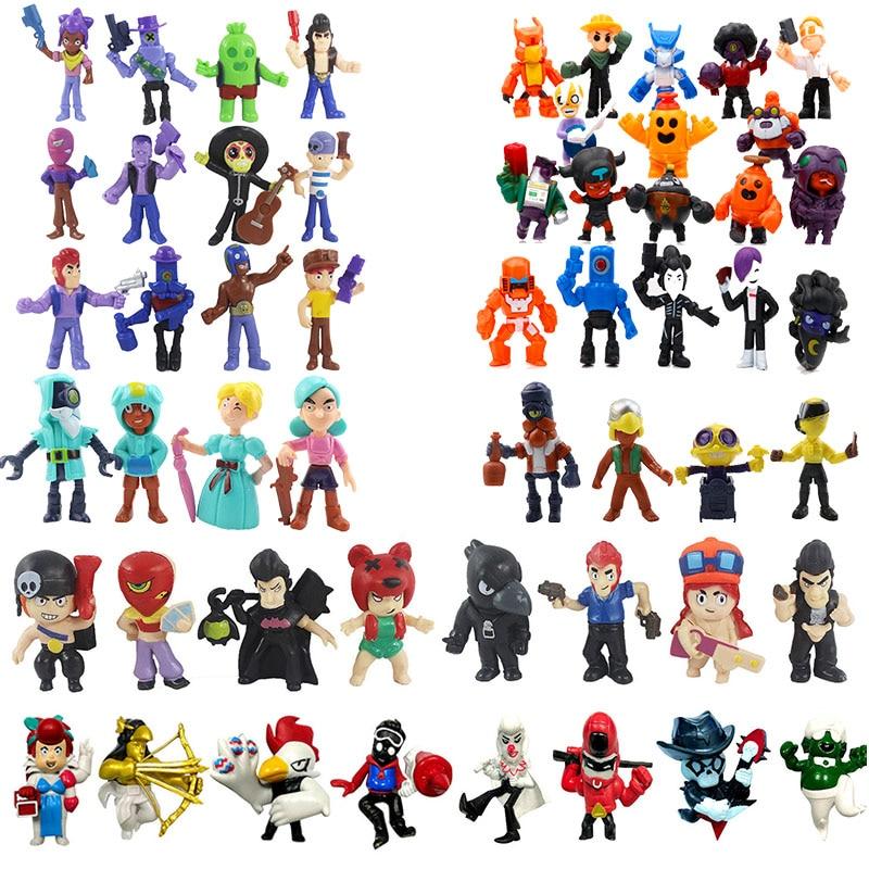 8/10/12/18 Pcs/lot Brawl Figure Game Star Hero Model Shelly Colt Jessie Brock Doll Christmas Toy Gift For Boy Girl Kids