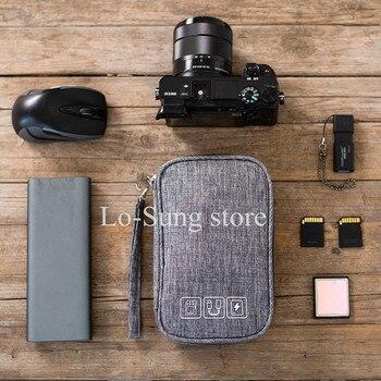 Da Viaggio Multi-Funzione Sacchetto di Immagazzinaggio Digitale Mobile di Potere Auricolare U Disco Cavo Dati Sacchetto di Immagazzinaggio Borsa Cavo Usb Gadget organizzatore