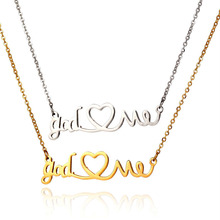 2019 Baby Girl Necklace Personalized Babygirl Name Letter Pendants Stainless Steel Birthday Gift Jewelry