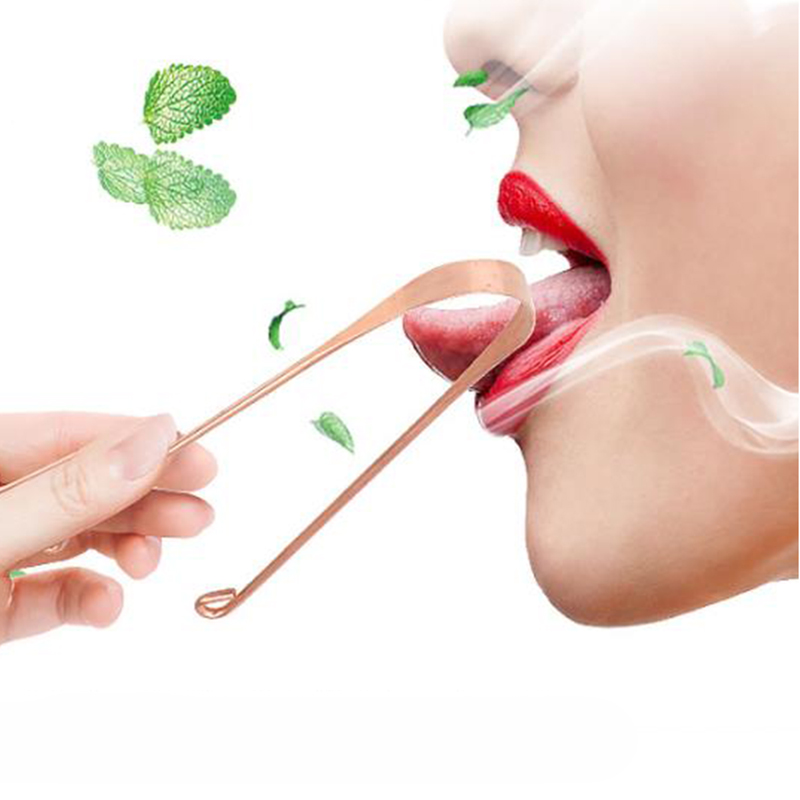 1pc Tongue Cleaner Scraper Metal Dental Care Cleaning Scraper For Tongue Oral Care Hygiene Tool