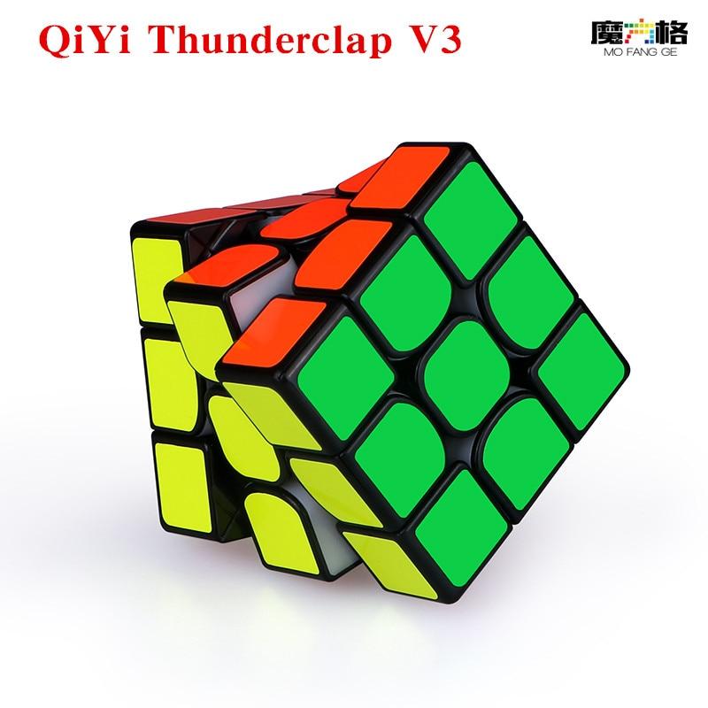 QIYI Mofangge Thunderclap V3 3x3x3 Magnetic Cube Professional Speed Puzzle Magic Magnets Cubes  Stickerless Cubo Magico