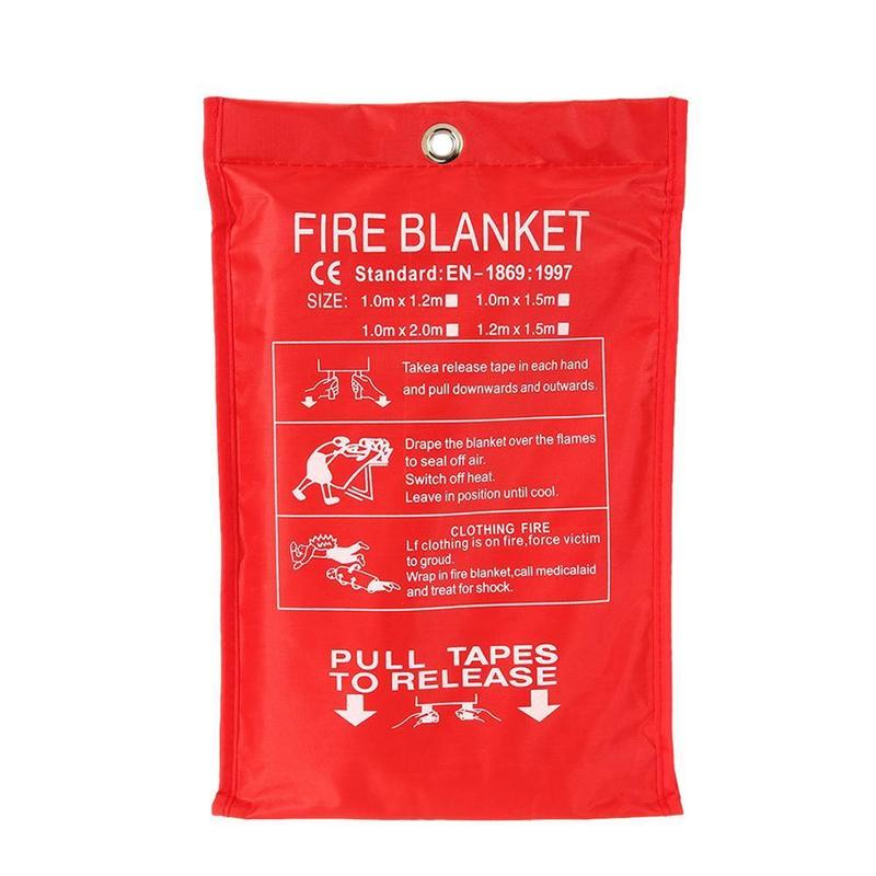 1Pcs 1M X 1M Fire Blanket Fiberglass Emergency Survival Fire Shelter Fire Escape Blanket Emergency Fire Blanket