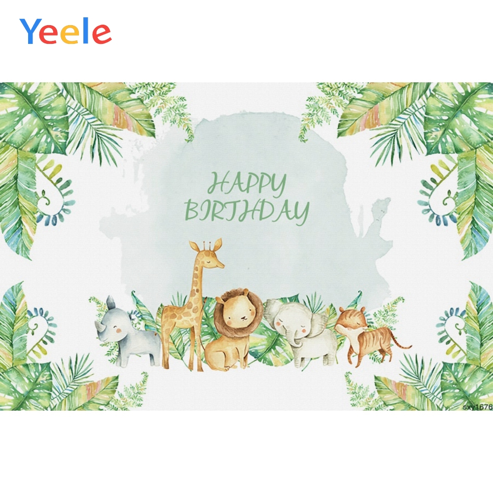 Yeele Safari Party Jungle Tropical Leaves Grass Birthday Baby Photography Backgrounds Photographic Backdrops Photo Studio Props