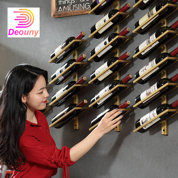 DEOUNY Wine Rack Wall Creative Portable Red Wine Glass Bottle Holder Goblet Stand Metal Iron Bar Accessories Christmas For Home resin wine girl wine rack best bottle holder egyptian goddess wine stand accessories home bar decor wine holder gift