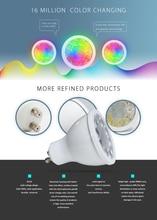 GLEDOPTO Zigbee RGB+CCT 5W GU10 Smart Led Spotlight Smart Home AC100-240V Color Change Led Dual White Light baterry spotlight