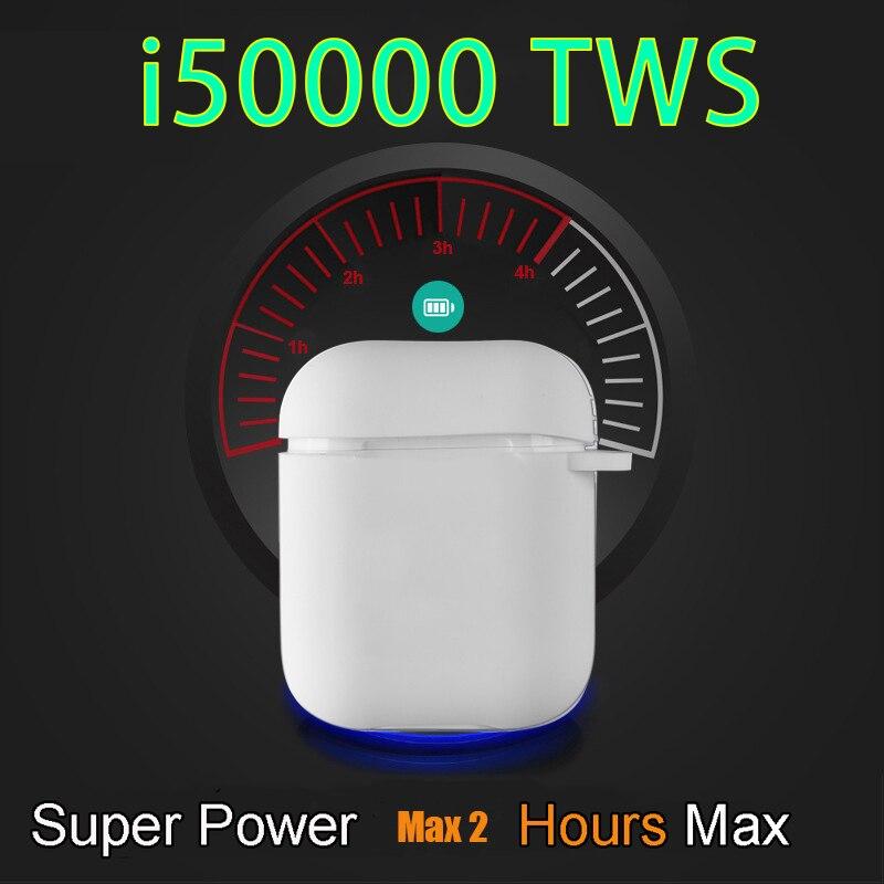 i50000 TWS Wireless Bluetooth Earphone with Charging Case Headset Mini Earbuds Handsfree Earbuds Sports Earphone