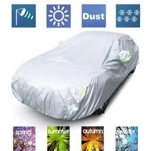 JIUWAN, универсальные автомобильные чехлы для внедорожников, защита от солнца и пыли, защита от ультрафиолета, для улицы, авто, полные Чехлы, зонтик, серебристая Светоотражающая полоса для внедорожника, седана