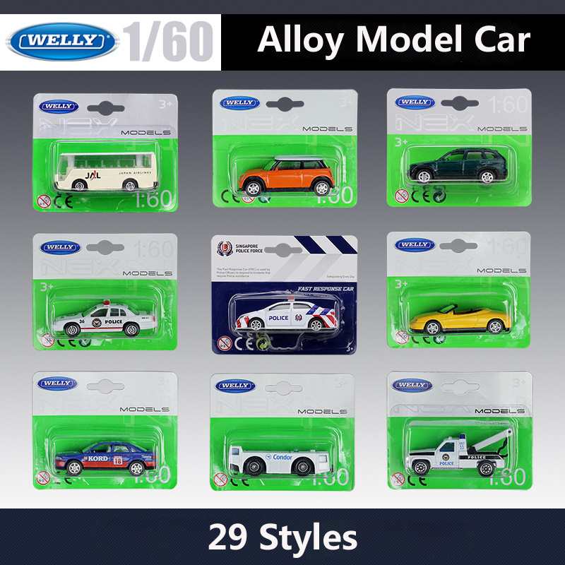 WELLY Model Car Tractor Trailer-Alloy Gifts Metal Mini Corolla/airport 1:60-Vehicle Car-Bus