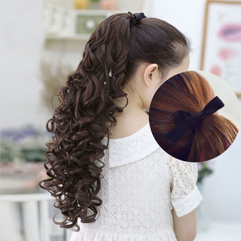 SHANGKE 24'' Long Kinky Curly Hair Pieces Ponytail Natural Clip In On Hair Extensions Flip In Fake Hair Tail Long Clip Ponytail 4