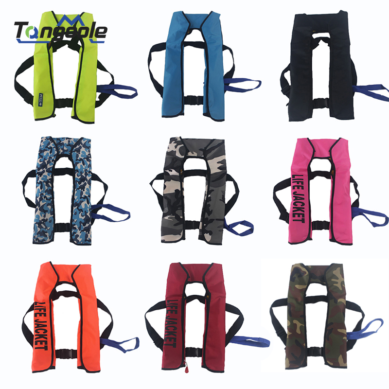 Inflatable Life Jacket Professional Adult Swiming Fishing Life Vest Swimwear Water Sports Swimming Survival Jacket Manual Type