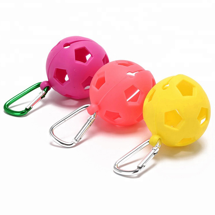 Ultralight Compact Silicone Golf Ball Holder Organizer - Holds 1 Ball - Clip On To Bag Or Belt - Durable & Lightweight