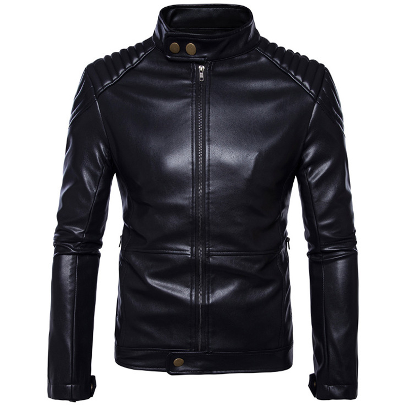 AOWOFS Newest Motorcycle Leather Jackets Autumn Slim Export German Men's Locomotive Jackets Jaqueta De Couro Masculina 5XL