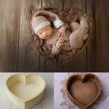 Baby Props for Photography Wooden Heart-Shaped Box Newborn Photography Accessories Posing Sofa Studio Shooting Props Fotografia dvotinst newborn baby photography props wooden box solid wood drawer fotografia accessories infantil studio shooting photo props