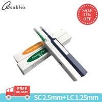 Promotion LC/SC/FC/ST outil de nettoyage en un clic 1.25mm et 2.5mm stylo de nettoyage à fibres optiques 800 nettoie le nettoyeur à fibres optiques