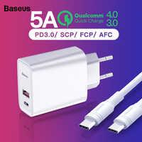 Baseus carga rápida 4.0 carregador usb para iphone 11 pro max xiaomi samsung huawei qc4.0 qc3.0 pd parede rápida carregador do telefone móvel