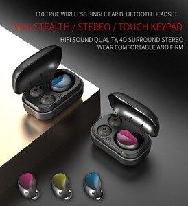Беспроводной наушники Bluetooth 5,0 наушники-вкладыши TWS с Hi-Fi в наушники-вкладыши спортивная водонепроницаемая гарнитура Поддержка iOS/Android телеф...