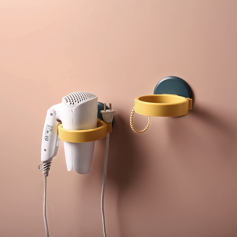 Hair Dryer Straightener Holder Wall Mounted With Strong Back Glue  For Bathroom No Drilling Wire Hanger Strong Adhesive