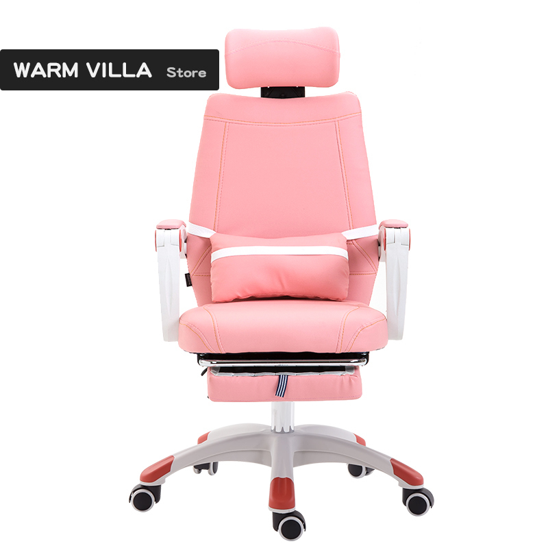 European Swivel Household To Work In An Office Bring Handrail Dawdler Pink Princess Electric Student Chair