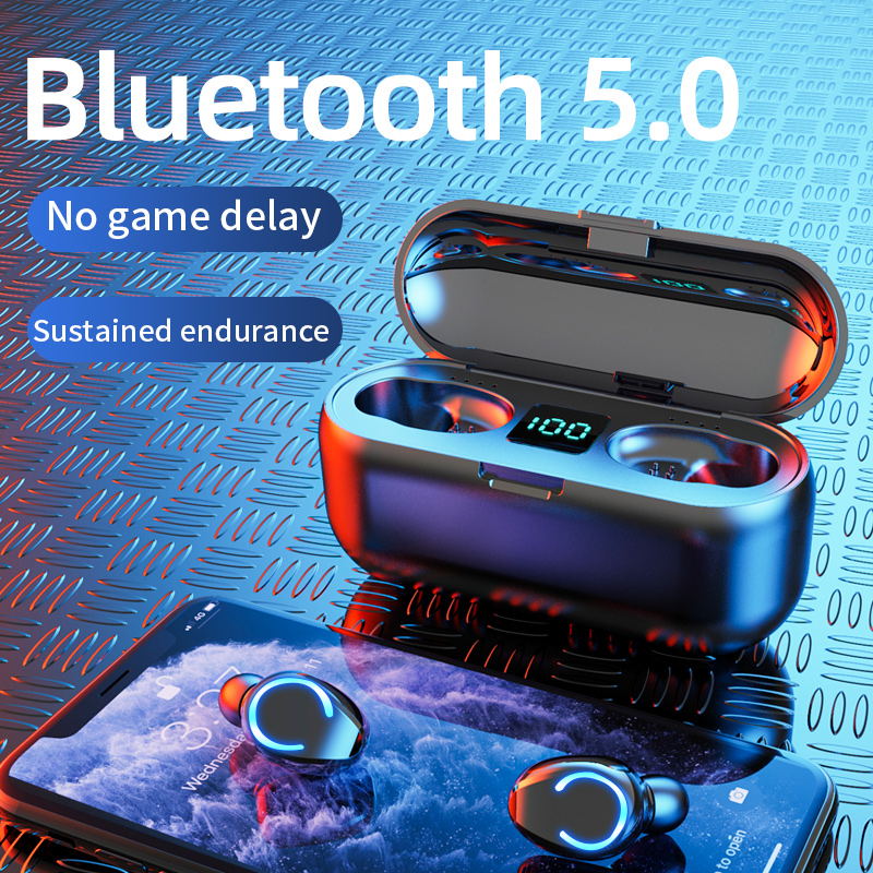 Мини-наушники-вкладыши TWS Bluetooth 5,0 наушники Беспроводной наушники 9D Hi-Fi стерео спортивные Водонепроницаемый Беспроводной наушники гарнитур...