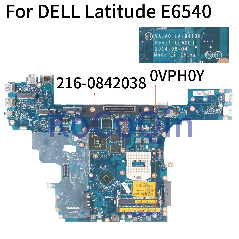 KoCoQin материнская плата для ноутбука DELL Latitude E6540 SR17C материнская плата CN-0VPH0Y 0VPH0Y VALA0 LA-9413P 216-084203