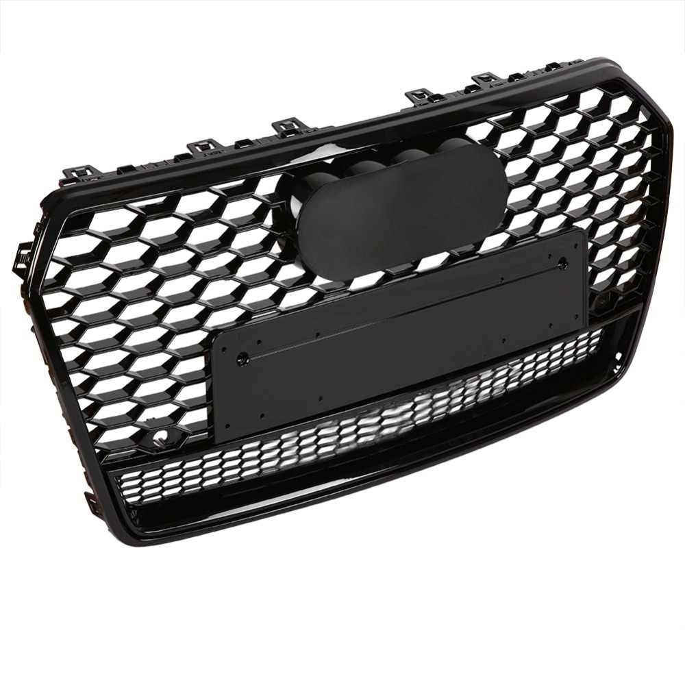 Front Grille for AUDI A7 4G Facelift 2015-2017 RS7 Look Glossy Black
