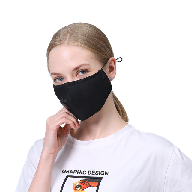 1 PCS Mouth Mask Rewashable reusable Mask with 10 PCS PM2.5  activated carbon filter Respirator for man and women adult 3