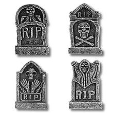 4PCS/Set Three-dimensional Foam Tombstone Halloween Props Bar Haunted House Secret Room Horror Decorative Ornaments
