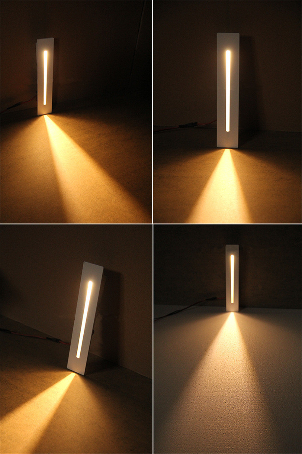 3W Recessed Led Stair Light AC85-265V Indoor Led Corner Wall lights Stairs Step Decoration Lamp With CREE Chip 1pcs