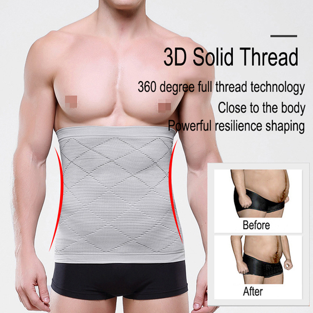 Men Waist Trimmer Belt Slimming Body Shaper Weight Loss Waist Trainer Shapewear Sweat Girdle Corset Men Fitness Belt 2