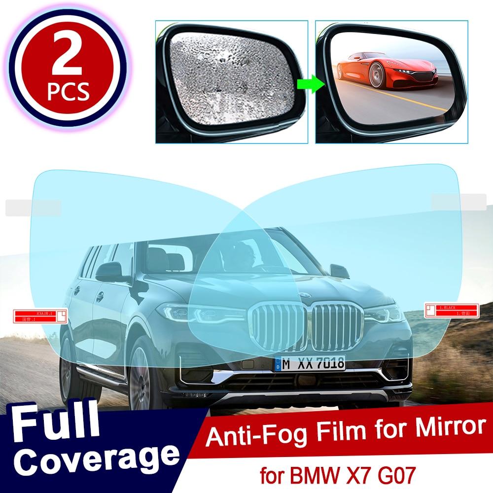 2PCS for BMW X7 G07 Full Cover Car Rearview Mirror Protective Film Anti Dazzle Waterproof Rainproof Anti Fog Car Sticker