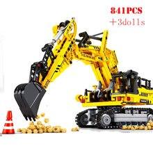 Jouets éducatifs pour enfants, Construction de ville, ingénierie, Bulldozer, grue, camion, pelle, rouleau, véhicule, blocs de Construction, briques