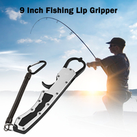 Aluminum Alloy 11 Inch Fish Gripper Pliers Fishing Lip Grip Grabber Clamp Tool Fishing Grip Grabber Carp Fishing Accessories
