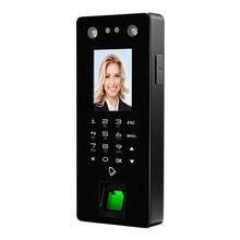 FA50 USB набор отпечатков пальцев стеклянная дверь распознавание лица две камеры устройство контроля доступа пароль посещаемость машина(ЕС Plug